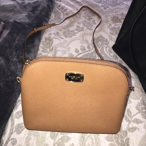 Tan and gold Michael Kors bag